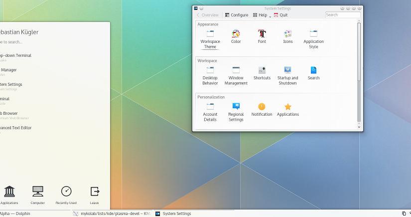 KDE5? Not there yet…